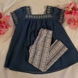 Jessica Simpson girls 2pc outfit size 4T